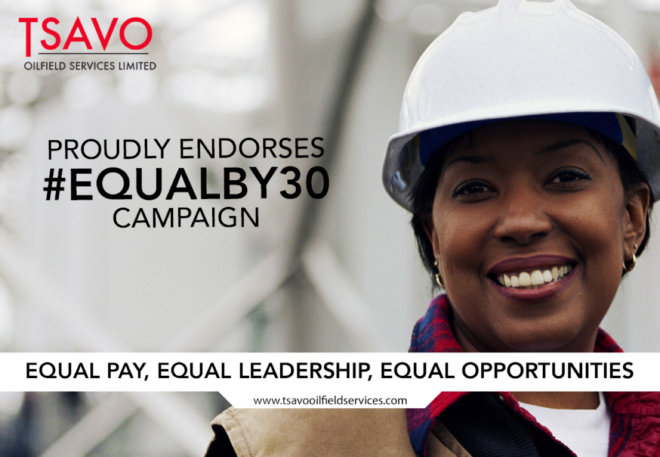 Tsavo Oilfield Services proudly endorses equal by 30 campaign